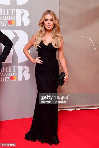 Chloe Lloyd attending the Brit Awards at the O2 Arena London PRESS ASSOCIATION Photo
