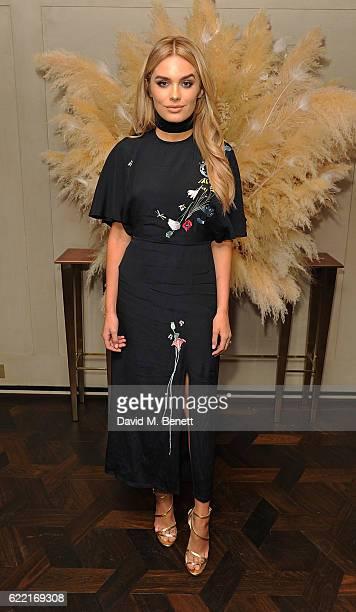 Chloe Lloyd attends 5 Years of Gazelli SkinCare on November 10 2016 in London England