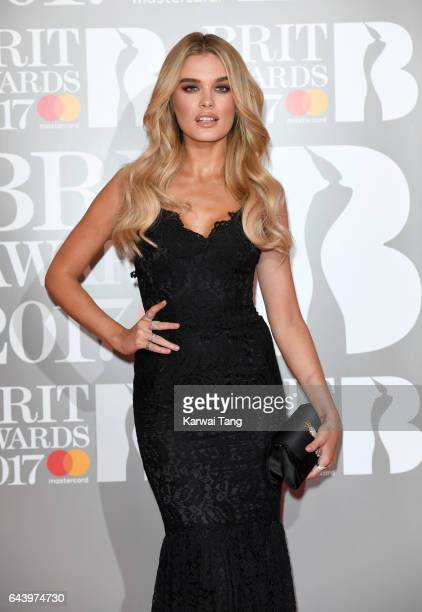 ONLY Chloe Lloyd attends The BRIT Awards 2017 at The O2 Arena on February 22 2017 in London England