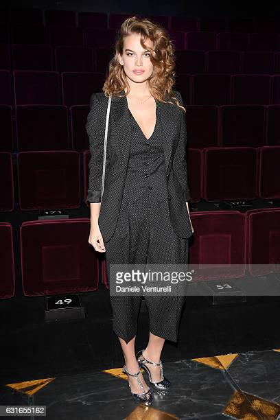 Chloe Lloyd attends the Dolce Gabbana show during Milan Men's Fashion Week Fall/Winter 2017/18 on January 14 2017 in Milan Italy