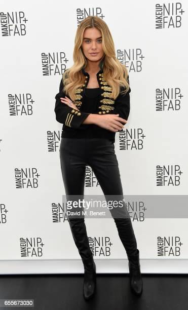 Chloe Lloyd attends the Mario Dedivanovic Maria Hatzistefanis launch of NIPFAB Makeup with model Chloe Lloyd on March 20 2017 in London England