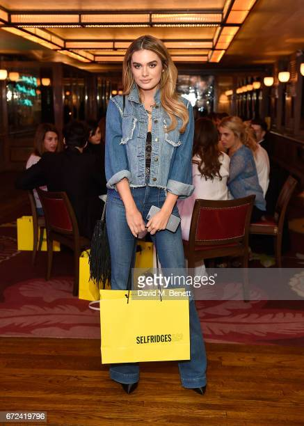 Chloe Lloyd attends the VIP dinner to celebrate Urban Decay's arrival at Selfridges London on April 24 2017 in London England
