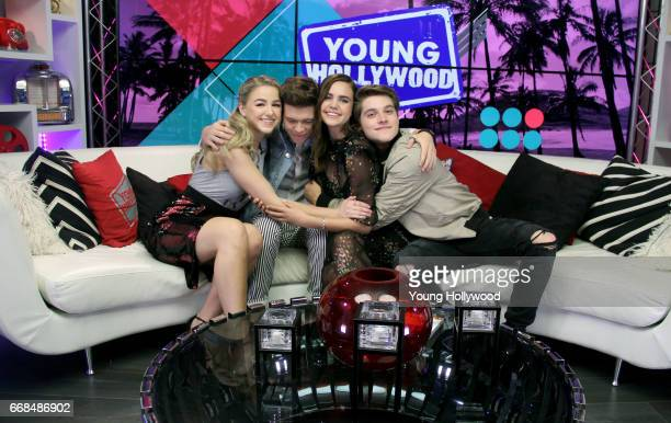 Chloe Lukasiak Aidan J Alexander Bailee Madison and Froy Gutierrez at the Young Hollywood Studio on April 13 2017 in Los Angeles California