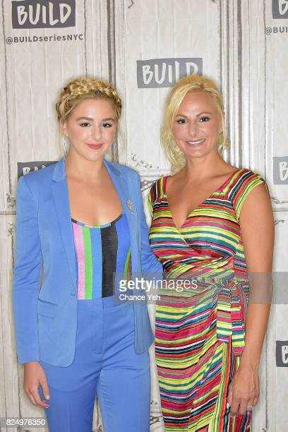 Chloe Lukasiak and Christi Lukasiak attend Build series to discuss the show 'Dance Moms' at Build Studio on July 31 2017 in New York City