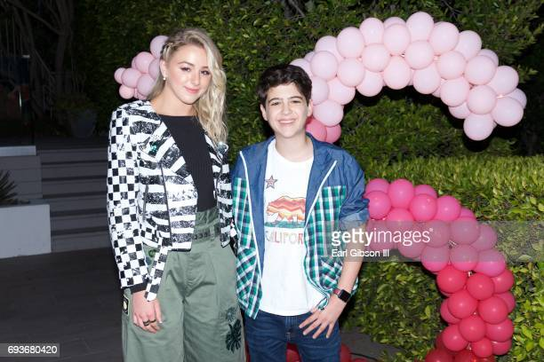 Chloe Lukasiak and Joshua Rush attend Chloe Lukasiak's Sweet Sixteen Pool Party on June 7 2017 in Los Angeles California