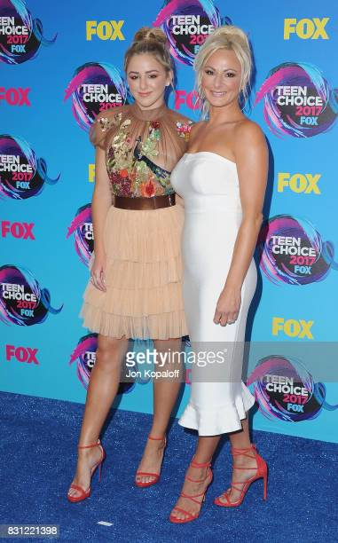 Chloe Lukasiak and mom Christi Lukasiak arrive at the Teen Choice Awards 2017 at Galen Center on August 13 2017 in Los Angeles California