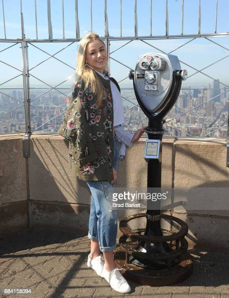 Chloe Lukasiak poses for a photo at The Empire State Building on May 17 2017 in New York City