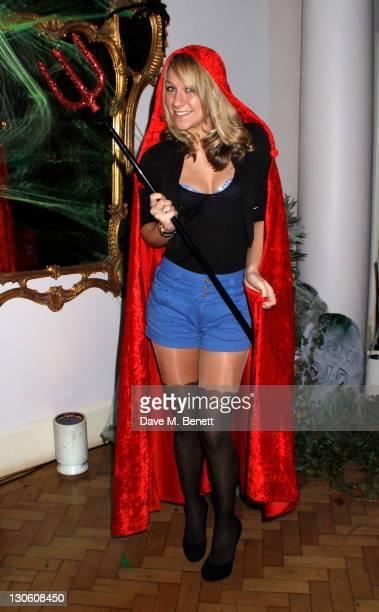 Chloe Madeley attend Virgin Media's Tivo Horror Quiz at One Marylebone on October 26 2011 in LondonEngland