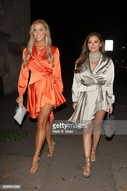 Chloe Meadows and Courtney Green attending at the launch of the Kem Cetinay BoohooMAN collection at Opal on August 24 2017 in London England