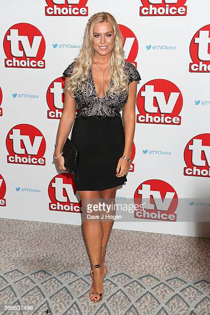 Chloe Meadows arrives for the TVChoice Awards at The Dorchester on September 5 2016 in London England