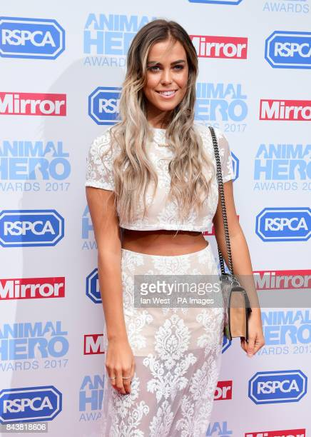 Chloe Meadows attending The Animal Hero Awards held at Grosvenor House Hotel London PRESS ASSOCIATION Photo Picture date Thursday September 7 2017...