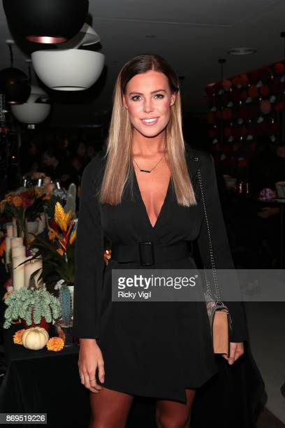 Chloe Meadows attends the 'Day Of The Dead' party at Leicester Square Kitchen on November 2 2017 in London England