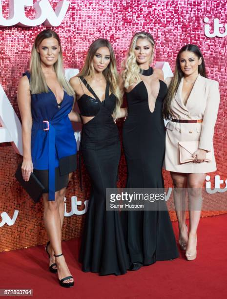 Chloe Meadows Lauren Pope Chloe Sims and Courtney Green arriving at the ITV Gala held at the London Palladium on November 9 2017 in London England