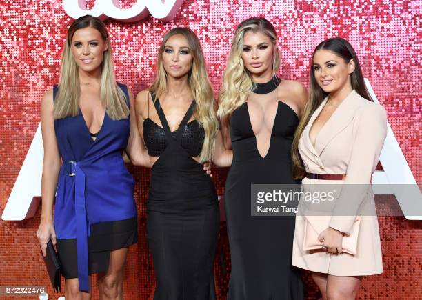 Chloe Meadows Lauren Pope Chloe Sims and Courtney Green attend the ITV Gala at the London Palladium on November 9 2017 in London England