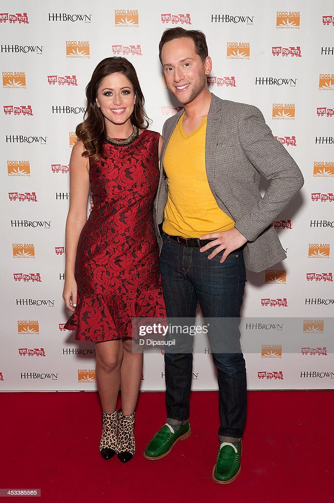 Chloe Melas (L) and Noah Levy attend the H.H. Brown Shoe Company Season Of Giving Holiday Party on December 3, 2013 in New York City.