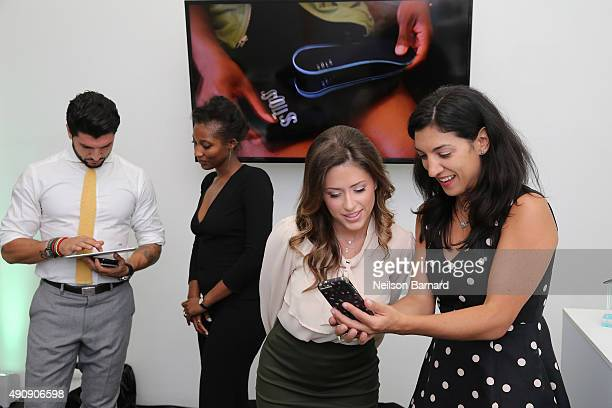 Chloe Melas Senior Entertainment Reporter at HollywoodLife and restauranteur Brian Mazza attend the SOLS launch party for the new SOLS Flex on...
