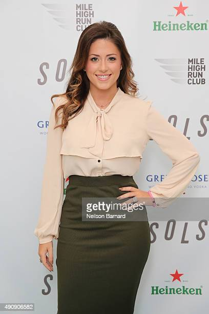 Chloe Melas Senior Entertainment Reporter at HollywoodLife attends the SOLS launch party for the new SOLS Flex on October 1 2015 in New York City...