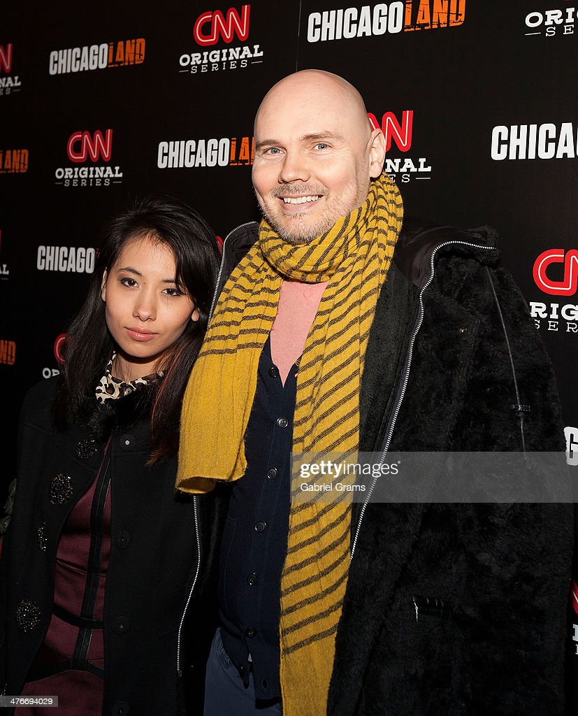 Chloe Mendel and Billy Corgan attend the 'Chicagoland' series premiere at Bank of America Theater on March 4, 2014 in Chicago, Illinois.
