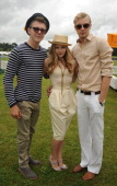 Chloe Moretz and her brothers attend the Veuve Clicquot Gold Cup Final at Cowdray Park Polo Club on July 17 2011 in Midhurst England