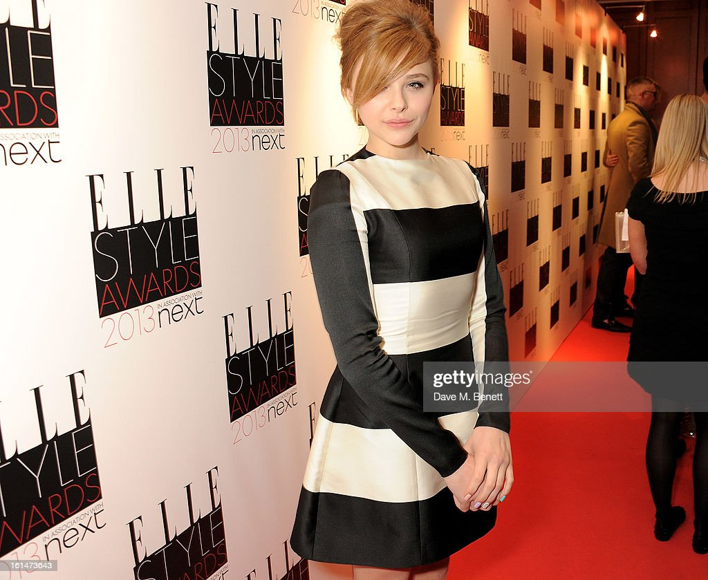 Chloe Moretz arrives at the Elle Style Awards at The Savoy Hotel on February 11, 2013 in London, England.