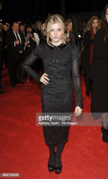 Chloe Moretz arrives for the Royal Film Performance 2011 of Hugo at the Odeon Cinema in Leicester Square London