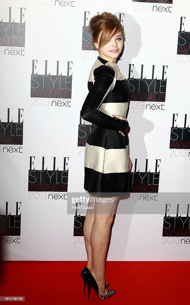 Chloe Moretz attends Elle Style Awards Outside Arrivals on February 11, 2013 in London, England.