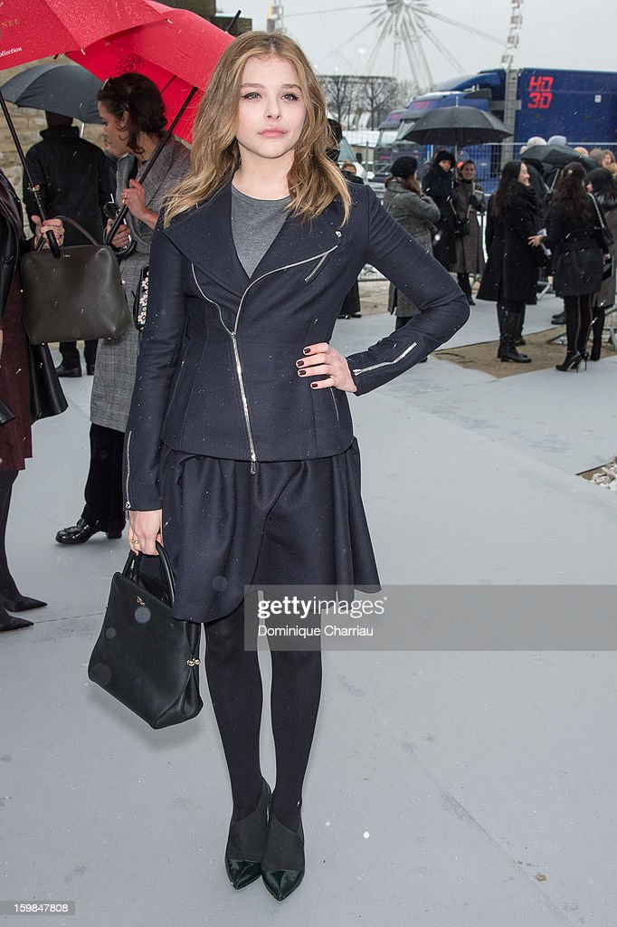 Chloe Moretz attends the Christian Dior Spring/Summer 2013 Haute-Couture show as part of Paris Fashion Week at on January 21, 2013 in Paris, France.