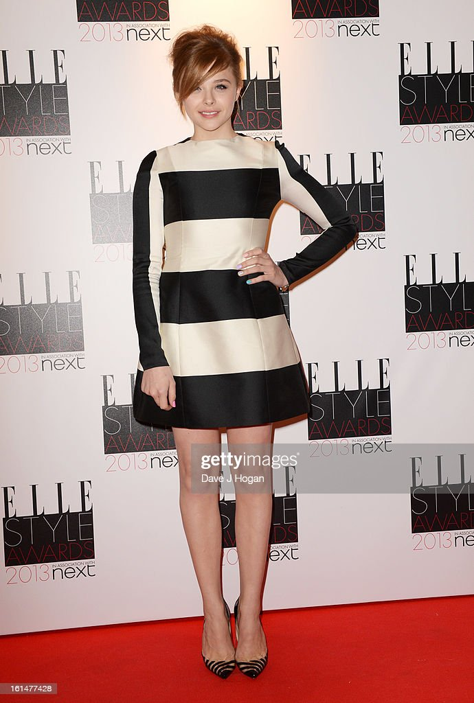 Chloe Moretz attends The Elle Style Awards 2013 at The Savoy Hotel on February 11, 2013 in London, England.