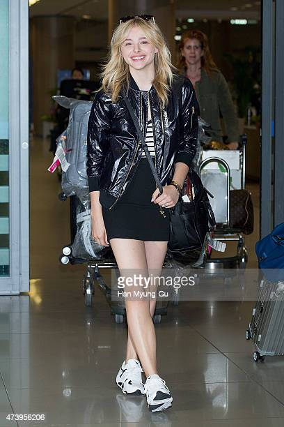 Chloe Moretz is seen upon arrival at Incheon International Airport on May 19 2015 in Incheon South Korea
