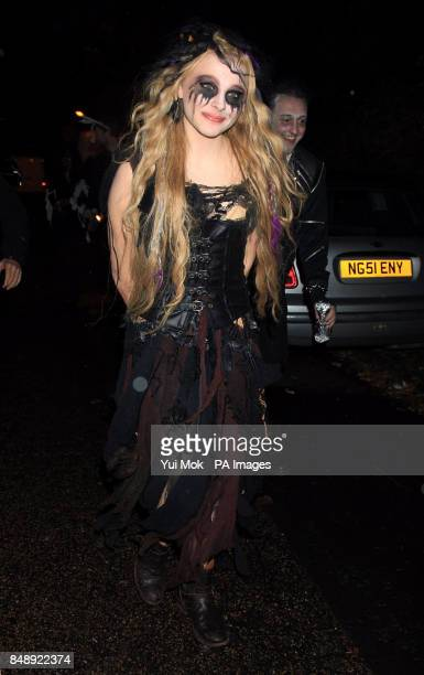 Chloe Moretz leaving a halloween party hosted by Jonathan Ross at his home in north London