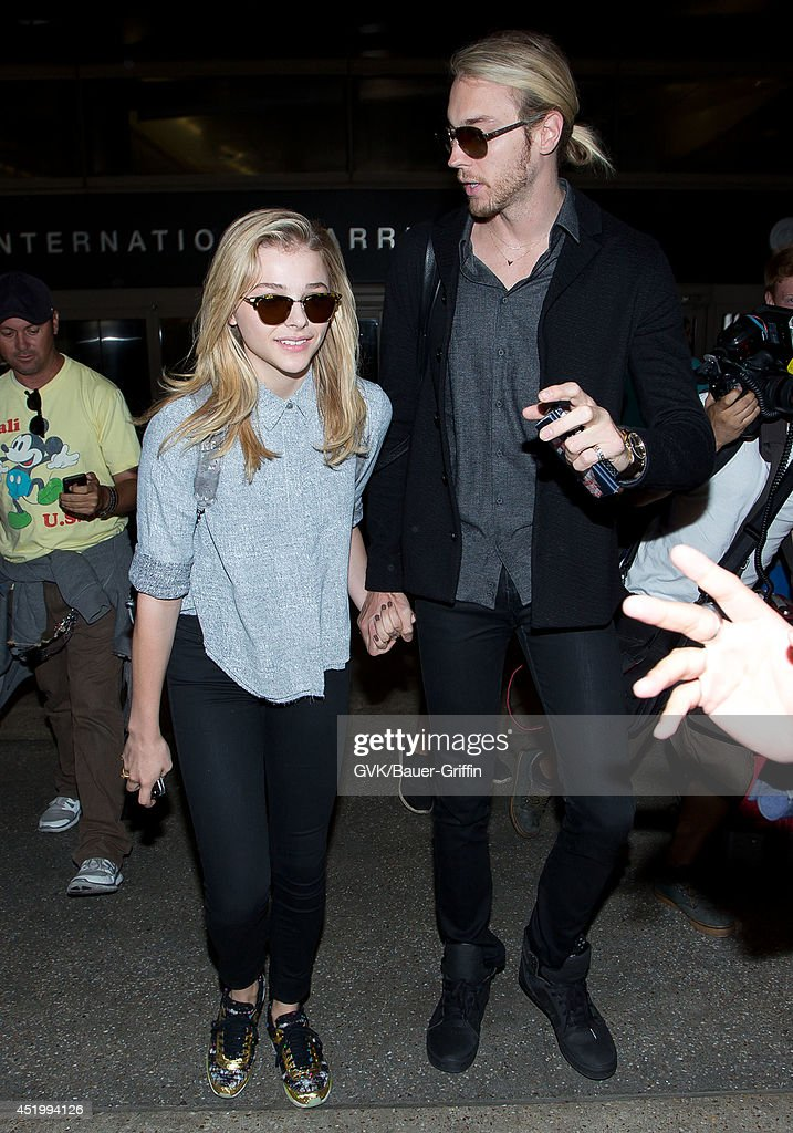 Chloe Moretz seen at LAX on July 10, 2014 in Los Angeles, California.