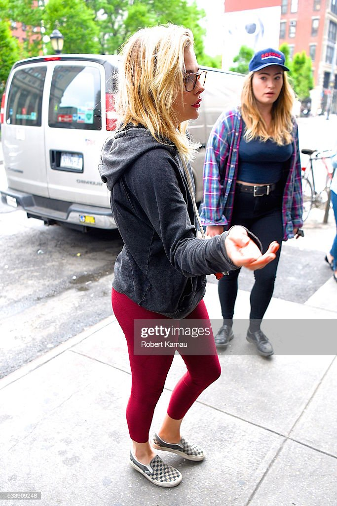 Chloe Moretz seen out for lunch in SoHo on May 24, 2016 in New York City.