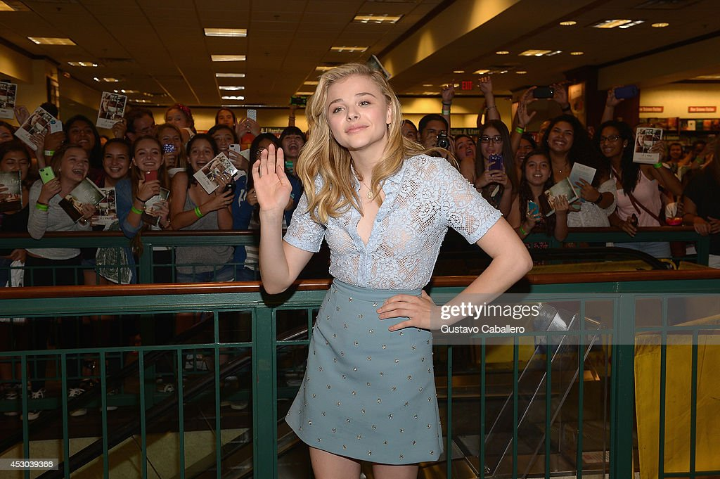 Chloe Moretz signs copies of the book ''If I Stay'' at Barnes& Noble on August 1, 2014 in Miami, Florida.