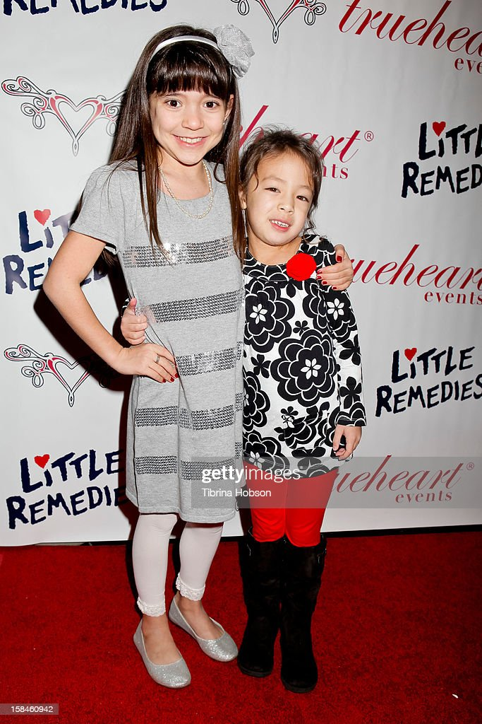 Chloe Noelle and Aubrey Anderson-Emmons attend Truehearts winter wonderland charity gala, benefiting Children's Hospital Los Angeles at Avalon on December 16, 2012 in Hollywood, California.