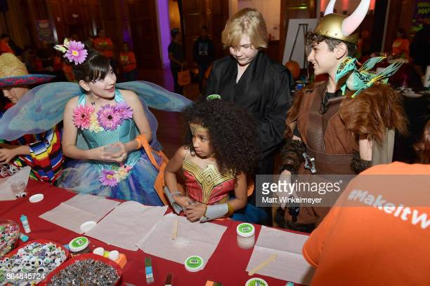 Chloe Noelle Jordyn Curet Connor Dean and Jax Malcolm at the Dream Halloween 2017 Costume Party Benefitting Starlight Children's Foundation presented...
