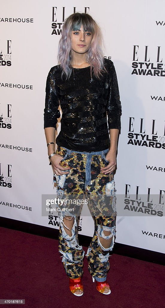 Chloe Norgaard attends the Elle Style Awards 2014 at one Embankment on February 18, 2014 in London, England.