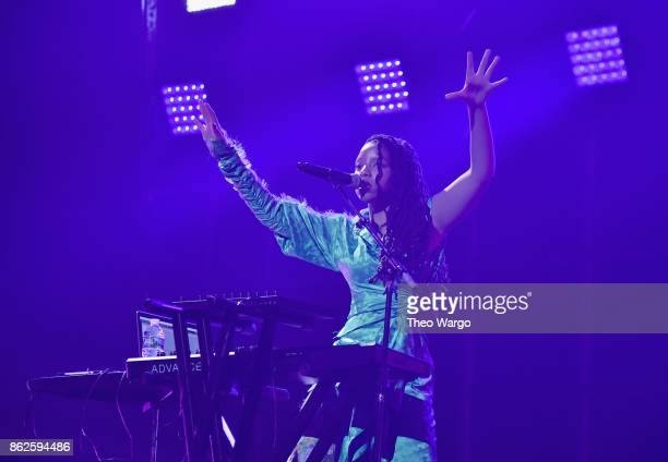 Chloe of Chloe X Halle performs onstage during TIDAL X Brooklyn at Barclays Center of Brooklyn on October 17 2017 in New York City
