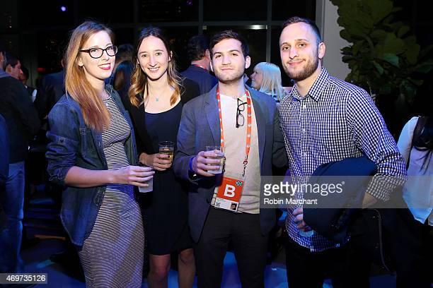 Chloe Olman Parker Hill Evan Ari Kelman and Sebastian Savino attend the New York Filmmaker Party during the 2015 Tribeca Film Festival at Spring...