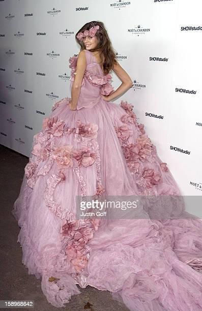 Chloe Pridham Attends A Moet Chandon Fashion Tribute Strawberry Hill House In Twickenham