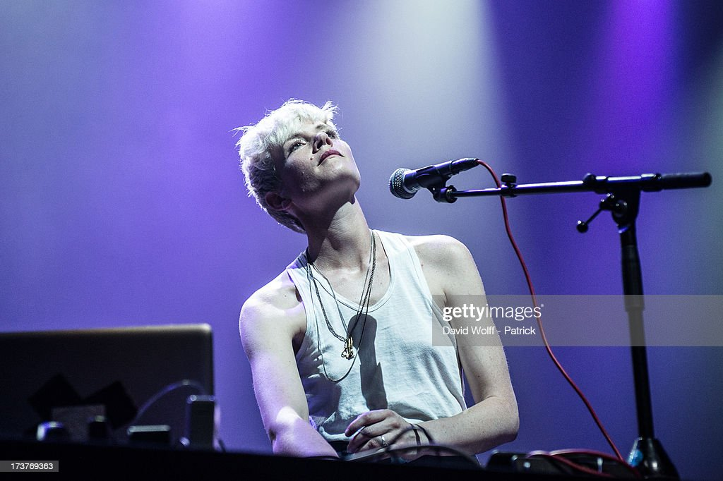 Chloe Raunet of C.A.R.opens for Cat Power at L'Olympia on July 17, 2013 in Paris, France.
