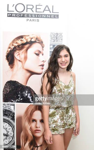 Chloe Scherck attends L'Oreal Professionnel Hair Fashion Night at Ramirez Tran Salon on June 15 2017 in Beverly Hills California