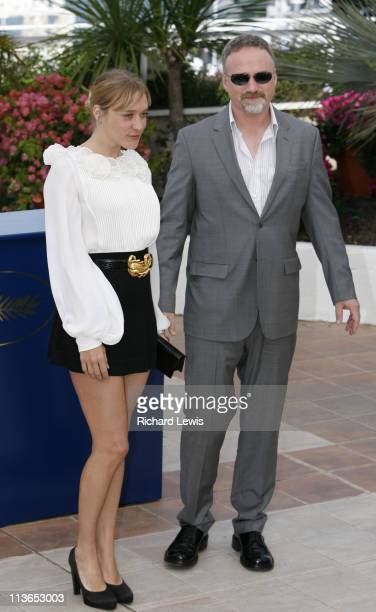 Chloe Sevigny and David Fincher during 2007 Cannes Film Festival 'Zodiac' Photocall at Palais de Festival in Cannes France