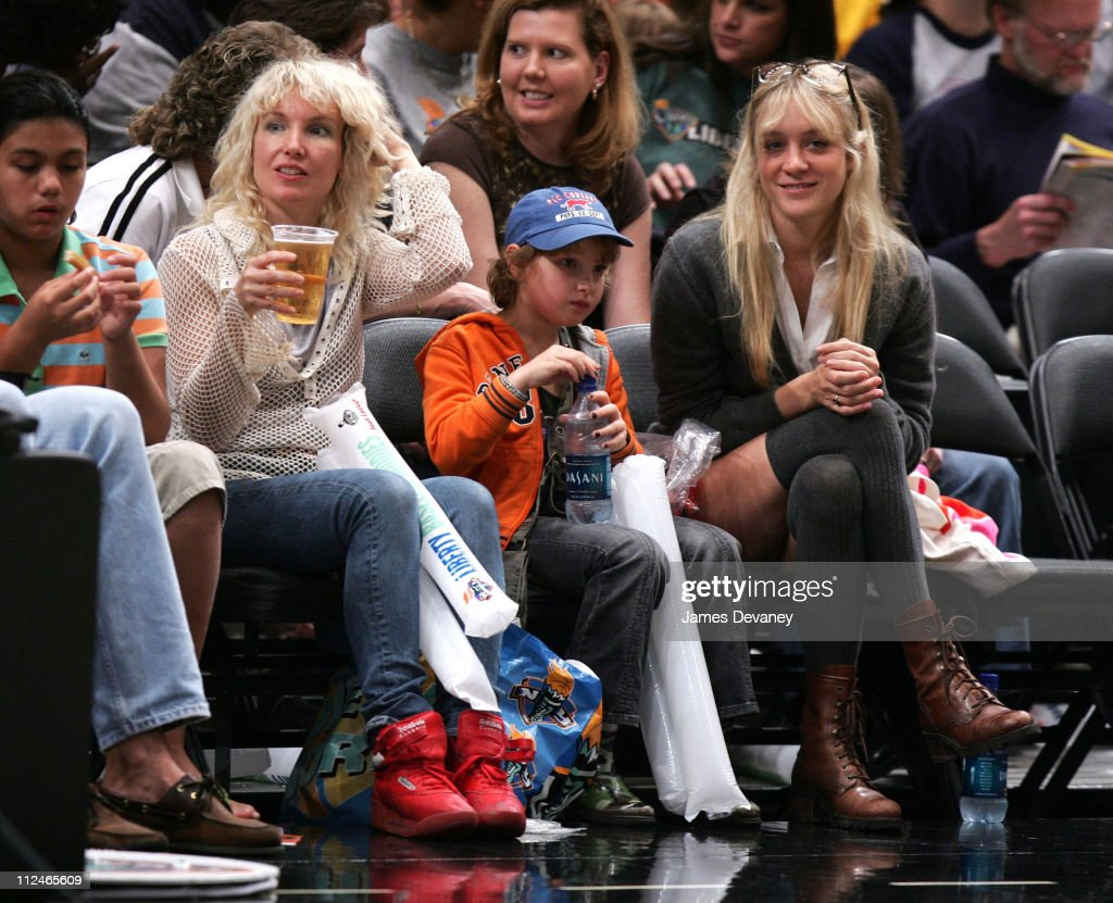 Chloe Sevigny and guests during Celebrities Attend Los Angeles Sparks vs New York Liberty Game June 3 2006 at Madison Square Garden in New York City...
