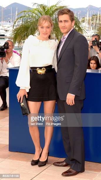 Chloe Sevigny and Jake Gyllenhaal attend a photocall for their new film Zodiac at the Palais Des Festivals during the 60th annual Cannes Film...