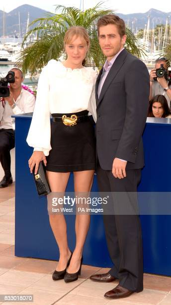 Chloe Sevigny and Jake Gyllenhaal pose for photographers during a photocall for Zodiac Picture date Thursday 17 May 2007 Photo credit should read Ian...