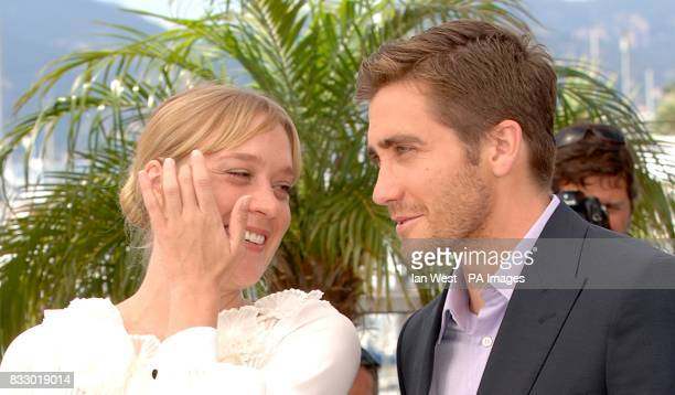 Chloe Sevigny and Jake Gyllenhaal pose for photographers during a photocall for Zoidiac Picture date Thursday 17 May 2007 Photo credit should read...