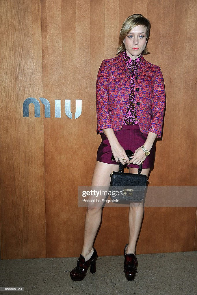 <a gi-track='captionPersonalityLinkClicked' href=/galleries/search?phrase=Chloe+Sevigny&family=editorial&specificpeople=201550 ng-click='$event.stopPropagation()'>Chloe Sevigny</a> attends the Miu Miu Spring/Summer 2013 show as part of Paris Fashion Week on October 3, 2012 in Paris, France.