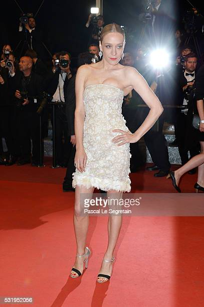 Chloe Sevigny attends the 'Personal Shopper' premiere during the 69th annual Cannes Film Festival at the Palais des Festivals on May 17 2016 in...