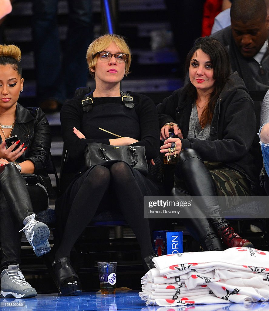 Chloe Sevigny attends the Portland Trail Blazers vs New York Knicks game at Madison Square Garden on January 1, 2013 in New York City.