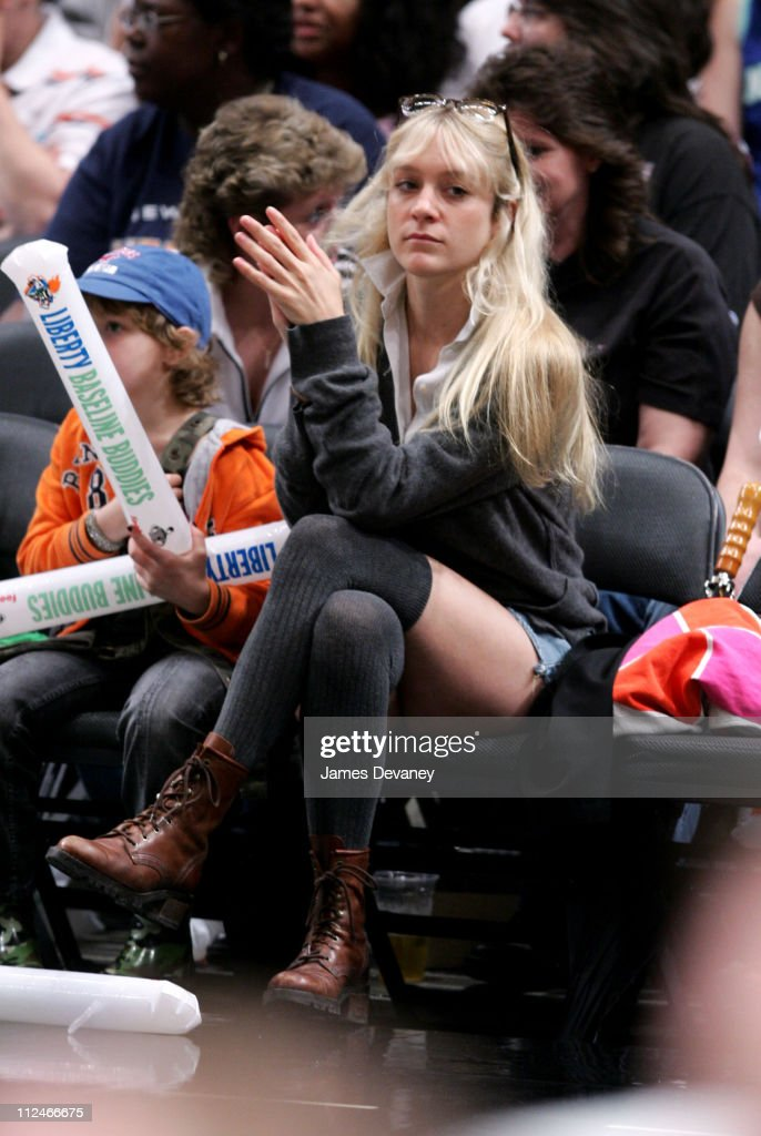 Chloe Sevigny during Celebrities Attend Los Angeles Sparks vs New York Liberty Game June 3 2006 at Madison Square Garden in New York City New York...